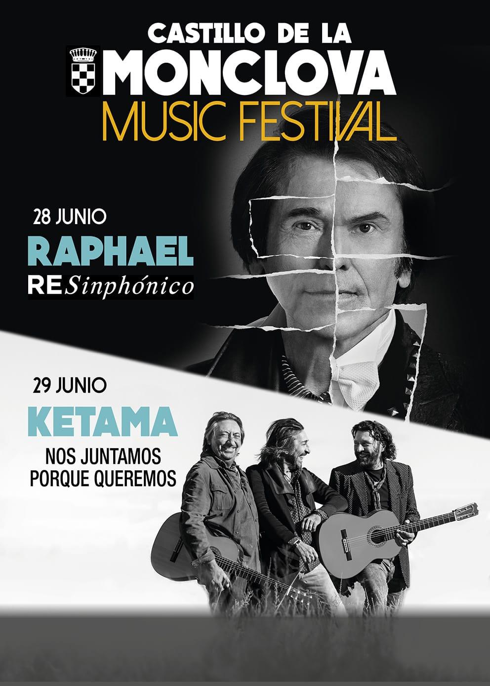 Raphael y Ketama completan el cartel del Festival de la Monclova