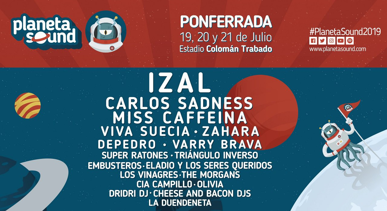 Cartel Planeta Sound, primer festival indie de Ponferrada